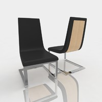 3dsmax bar stool leather