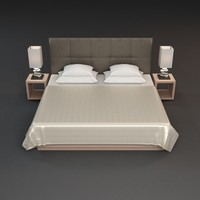 3d nightstand lamp beds model