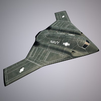 Bomber stealth low poly