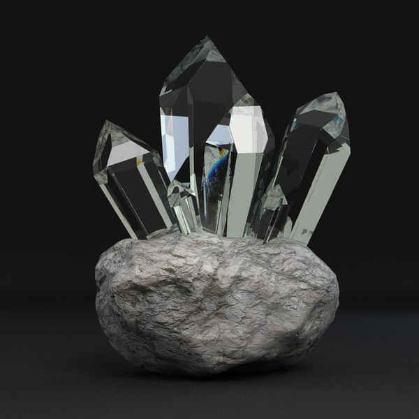 3d crystal dispersion rock - Crystal... by mmvis
