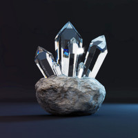 3d crystal dispersion rock