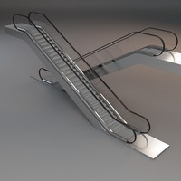 3d escalator stair model