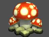 3d model of mushrooms