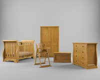 set nursery furniture 3d max