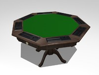 3d model card poker table