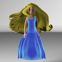 3d cartoon princess model