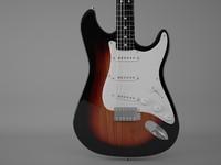3d instrument guitar