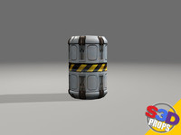 sci-fi canister crate 3d model