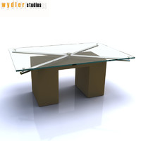 3d glass table