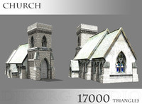 3d church chapel model