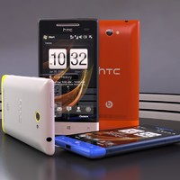 3d model htc windows phone 8s