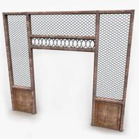 3dsmax wood wooden passage