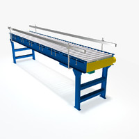 Conveyor - Live Roller V-Belt Driven Minimum Pressure Accumulation
