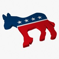 3d democratic party logo