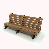 3ds max bench wooden