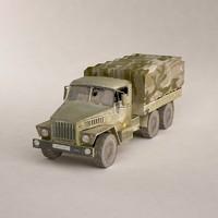 3d russian 6x6 truck model