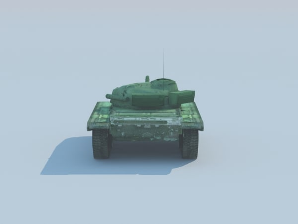 t-72m battle tank 3d model - T-72 Tank (USSR) low-poly... by Dragman