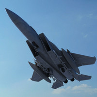 Realistic High Poly F15 Jet Fighter