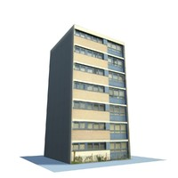 3d model english urban building