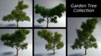 garden trees 3d obj