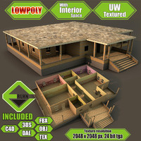 house interior building 3d model