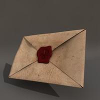 maya old letter seal