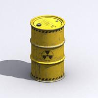 waste barrels 3d model