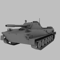 pt-76 tank soviet 3d model