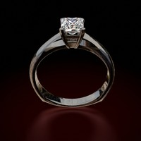 princess cut diamond ring 3d model