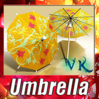 High Detailed Cocktail Umbrella