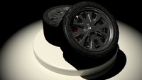3ds max alloy wheel