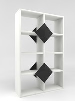3d eight-shelves bookcase display