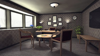 3d office interior model