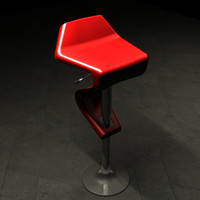 sleek bar stool 3d model