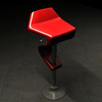 sleek bar stool 3d model
