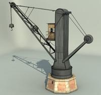 3d ma old port crane