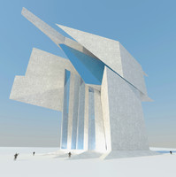 futuristic architecture building 3d model