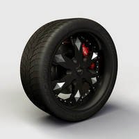 Wheel Baccarat - Athlete rims and tire
