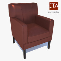 maya leather lounge chair