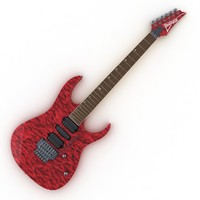 3d electric guitar ibanez rg model