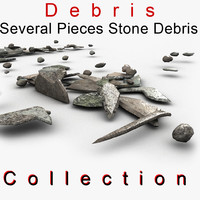 Small Slim Long Stone Debris
