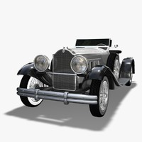 packard speedster 1930 car 3d model