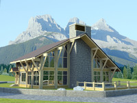 country house alpine 3d max