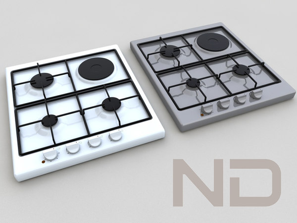 3ds max built gas hob - BUILT-IN GAS HOB , ELECTRIC... by N.DESIGN