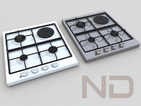 3ds max built gas hob