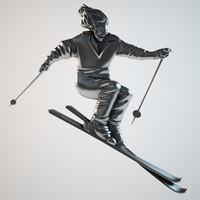 bas skier 3d max