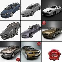 9 cars 3d max