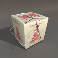 take-away food box 3d model