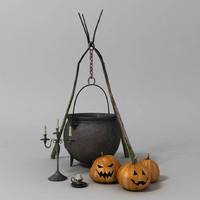 3d halloween o model