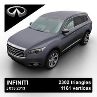 2013 infiniti jx35 3d model